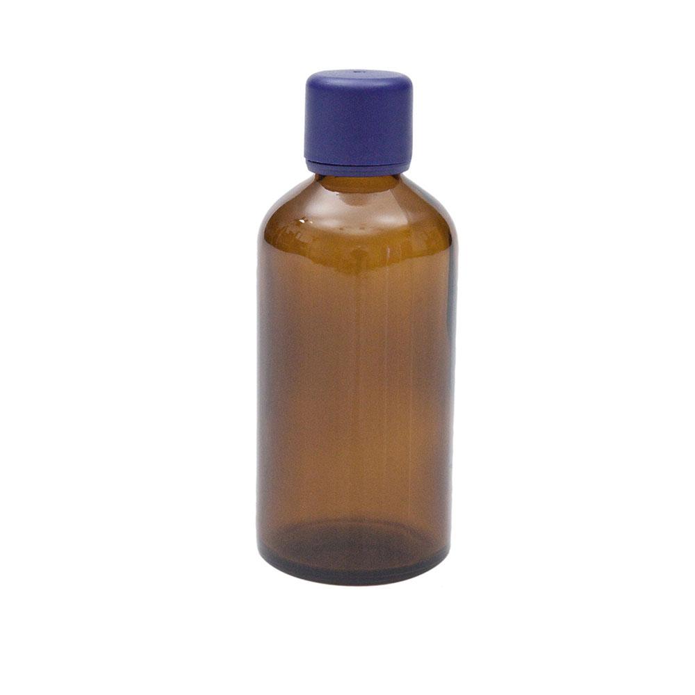 Braunglasflasche für 100ml mit Körperöl-Verschluss, 1St.