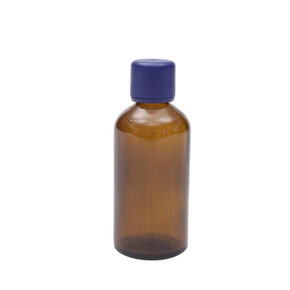 Braunglasflasche für 50ml, mit Körperöl-Verschluss, 1St.