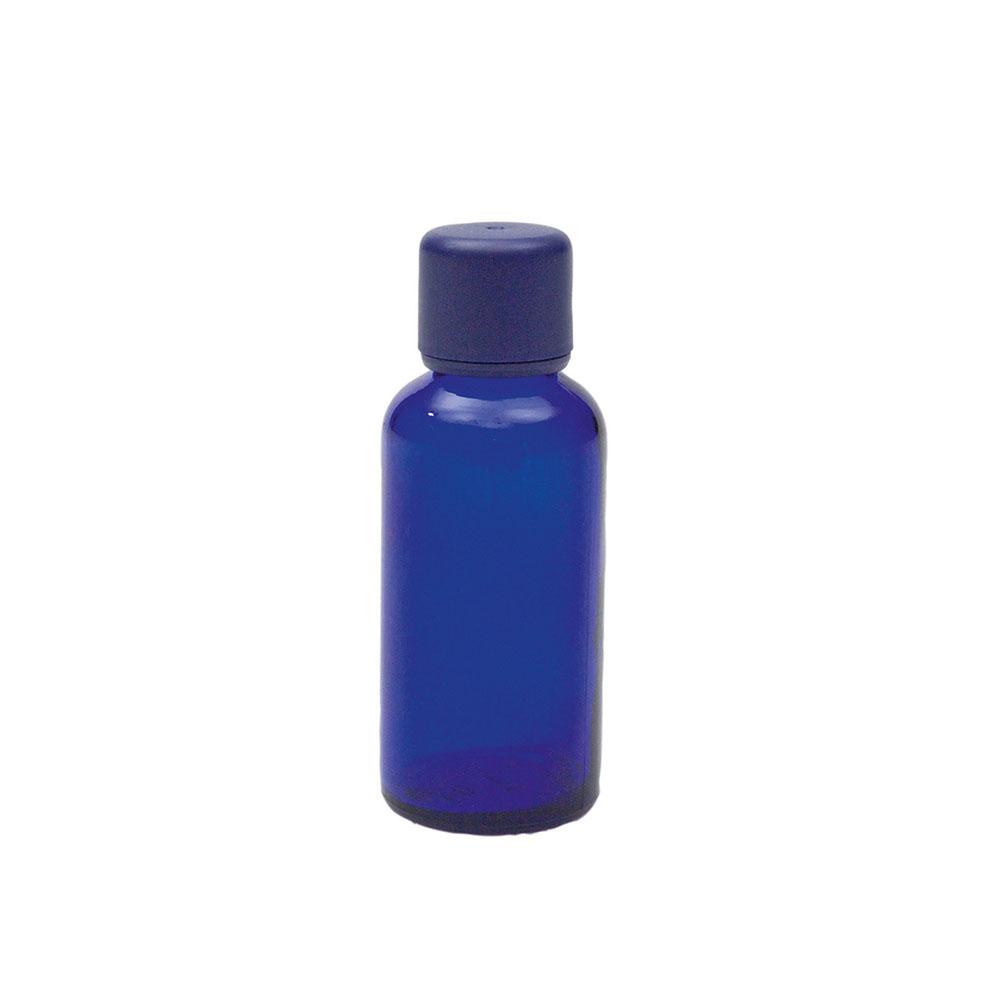 Blauglasflasche für 50ml mit Körperöl-Verschluss, 1St.