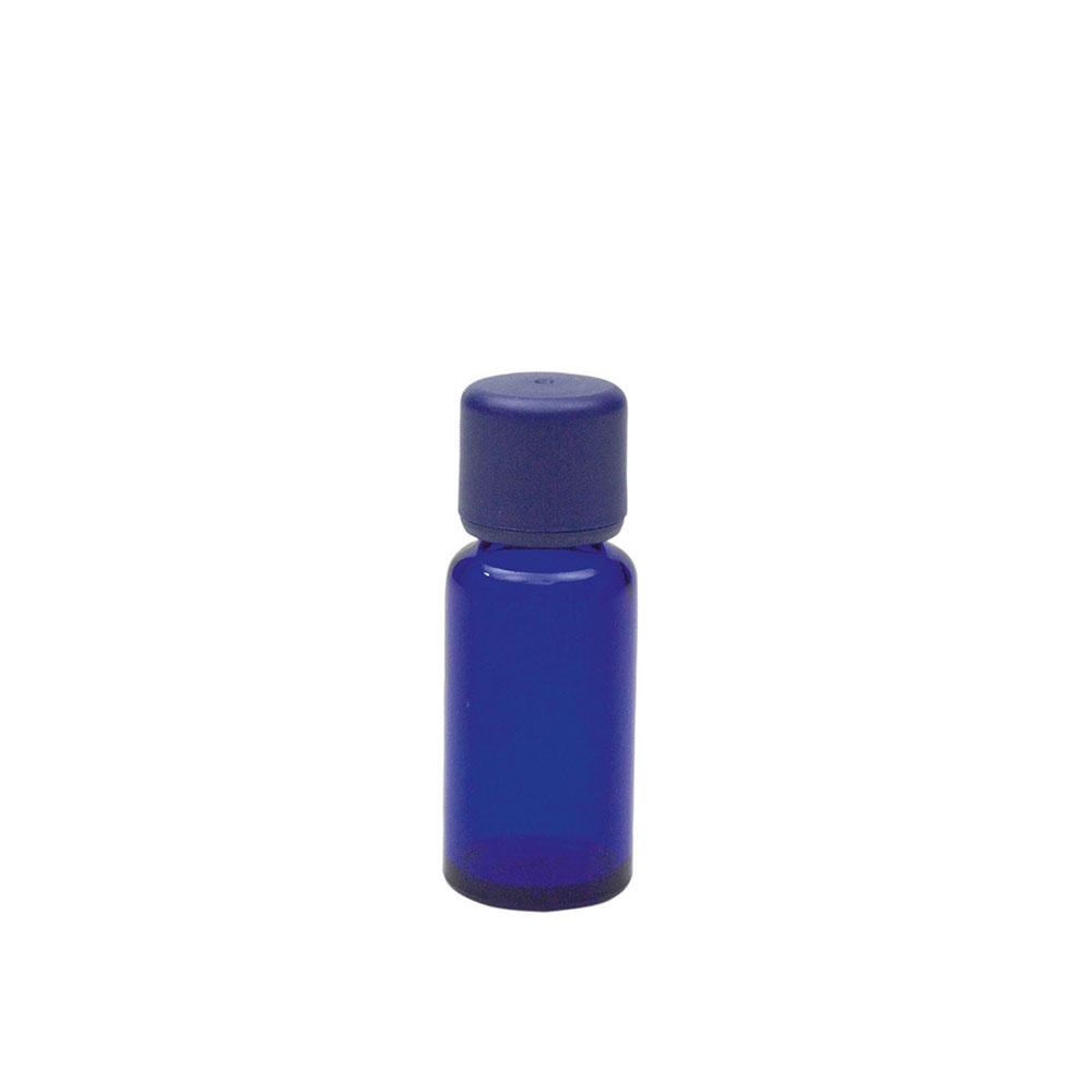 Blauglasflasche für 20ml mit Körperöl-Verschluss, 1St.
