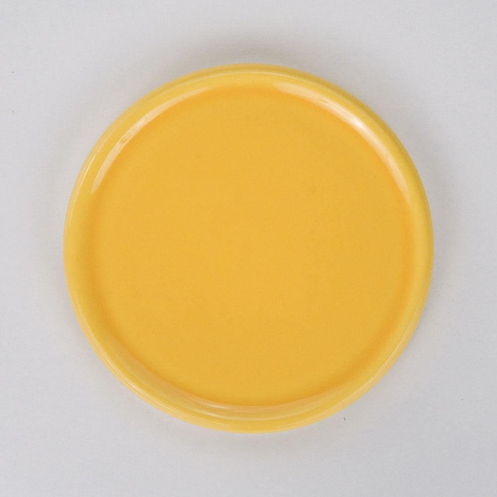 Untersetzer für Duftkeramik, gelb glasiert, ø7cm, 1St.